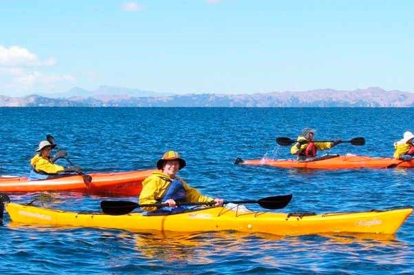 kayak at titicaca peru